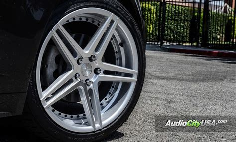 "20"" Staggered Rennen Wheels CSL 3 Silver with Chrome Bolts"