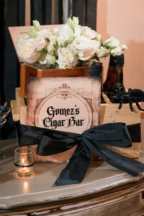 Elegant Halloween Inspired Engagement Party Ideas | Every