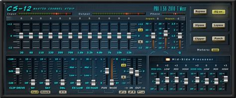 Terry West CS-12, freeware master channel strip effect
