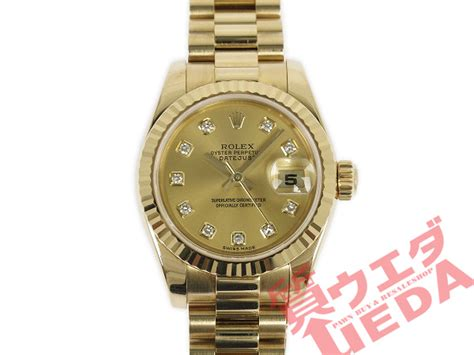 Reuse and Pawn-shop Ueda: Rolex /179178G/ date just /D
