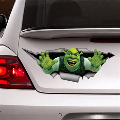 Shrek car decal 3d sticker funny sticker vinyl decal