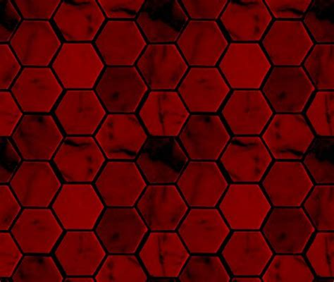 Deep Red Hexagon Tile Background Seamless Background Or