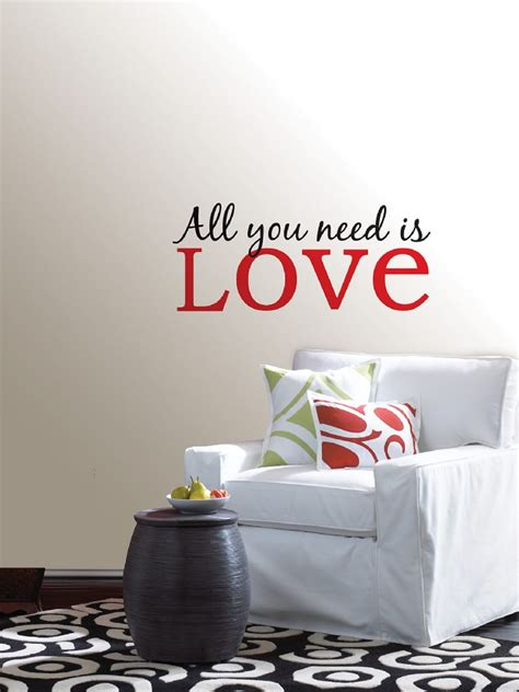 All You Need Is Love Quote Wall Art Sticker