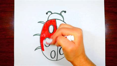 How To Draw A Ladybug CUTE Drawing For Kids - YouTube