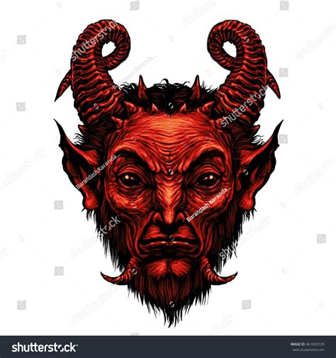 Devil Head Satire Satan Halloween Monster Stock