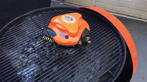 Grillbot Automatic Grill Cleaner Robot Review - YouTube
