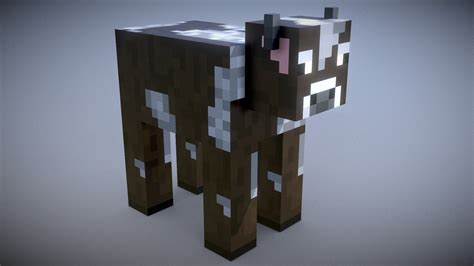 Minecraft - Cow - Download Free 3D model by Vincent Yanez