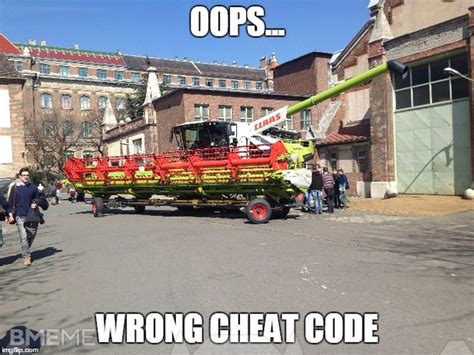 oops wrong cheat code - BMEme