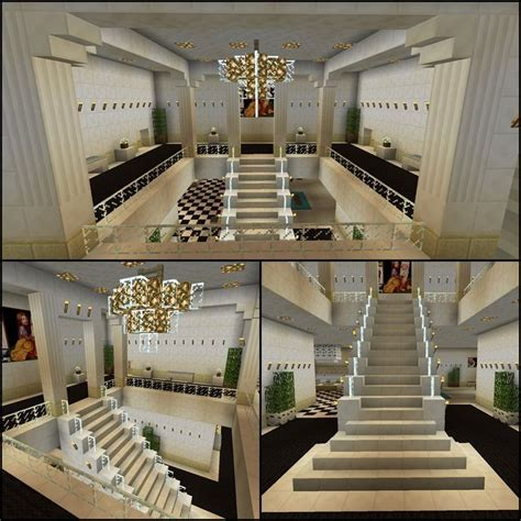 Minecraft #Glass #Stairs #Chandelier #Staircase