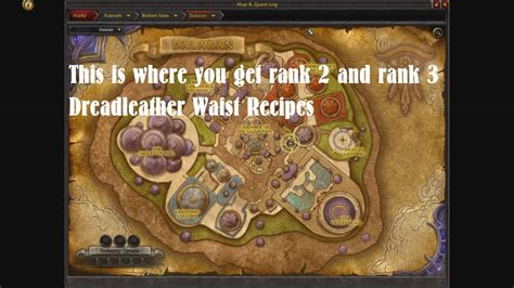 [WoW Legion] How to get recipes for 800 Leatherworking